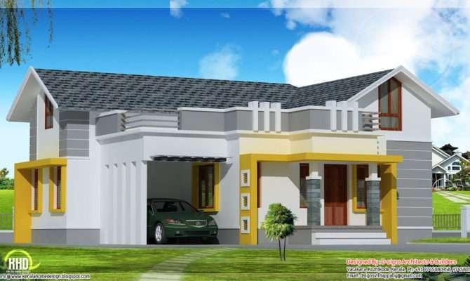 Stylish Single Floor Home Feet Kerala Design