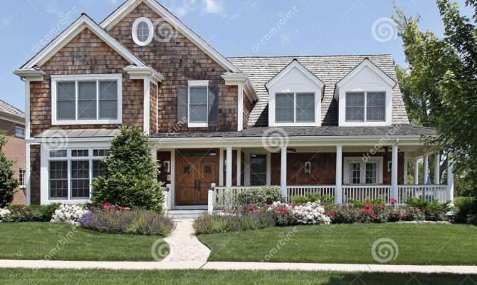 Suburban Home Front Porch