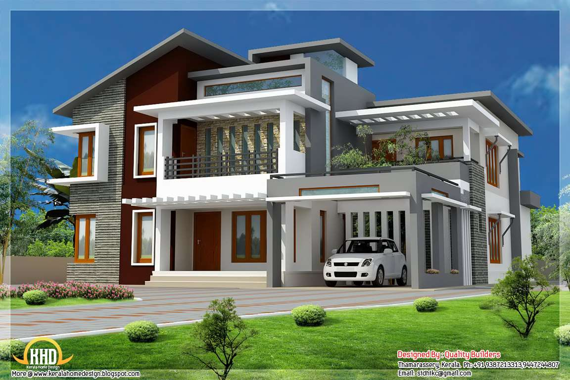 Superb Home Design Contemporary Modern Style Kerala