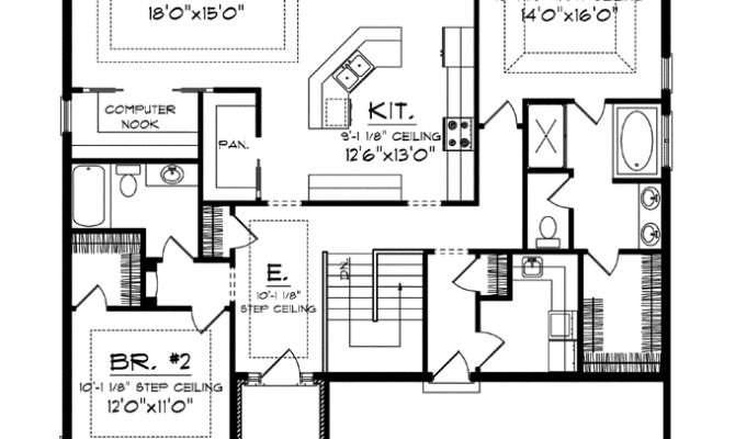 Superb House Plans Big Kitchens