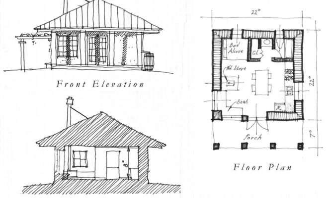 Superb One Room House Plans Pool Design