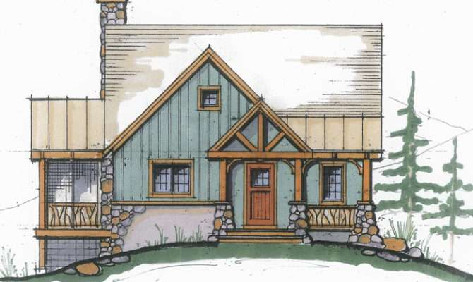 Superb Small Mountain Home Plans Timber Frame
