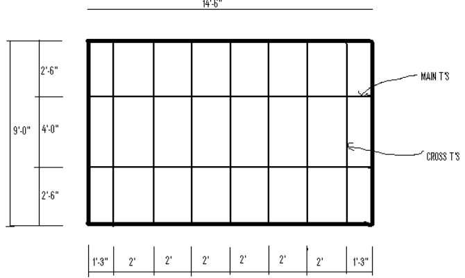 Suspended Ceiling Grid Layout Plan