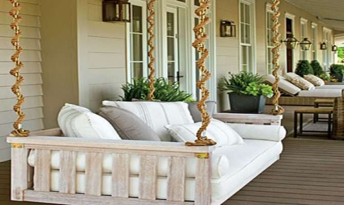 Swinging Beds Front Porch Swing Rope