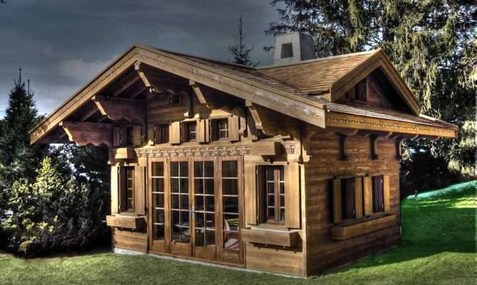 Swiss Chalet Miniature Replica Copy Children Wooden Play House