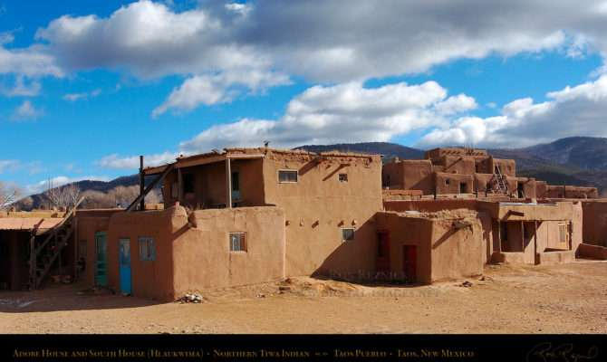 Taos Pueblo Adobe House South