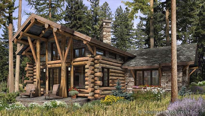 Telluride Log Cabin Plan Rustic Luxury Cabins Plans