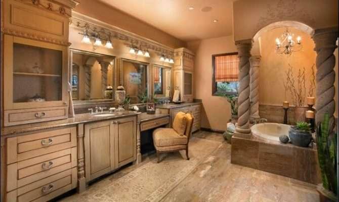 Think Luxury Tuscan Bathroom Design