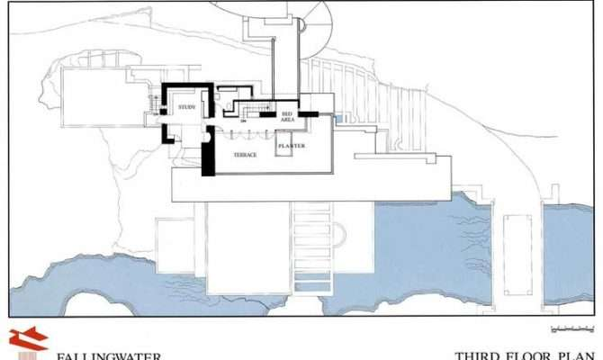 Third Floor House Falling Water Frank Lloyd Wright Pinterest