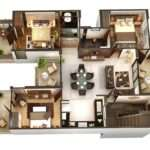 Three Bedroom Apartment House Plans Architecture Design