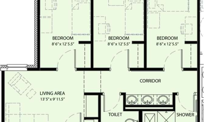 Three Bedroom Suite University Commons