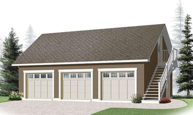 Three Car Garage Plans Loft Plan Cape