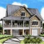 Three Level Beach House Plan Architectural