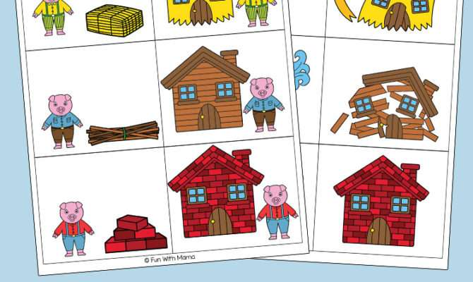 Three Little Pigs Sequencing Cards Fun Mama