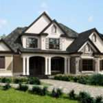 Three Story Southern Style House Plan Front Porch