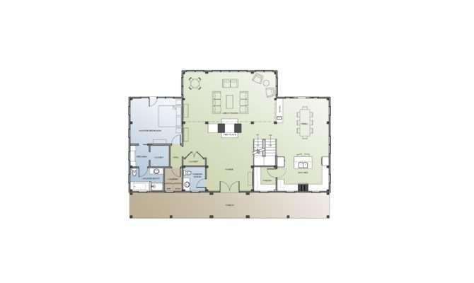 Timber Frame Farm House Floor Plan