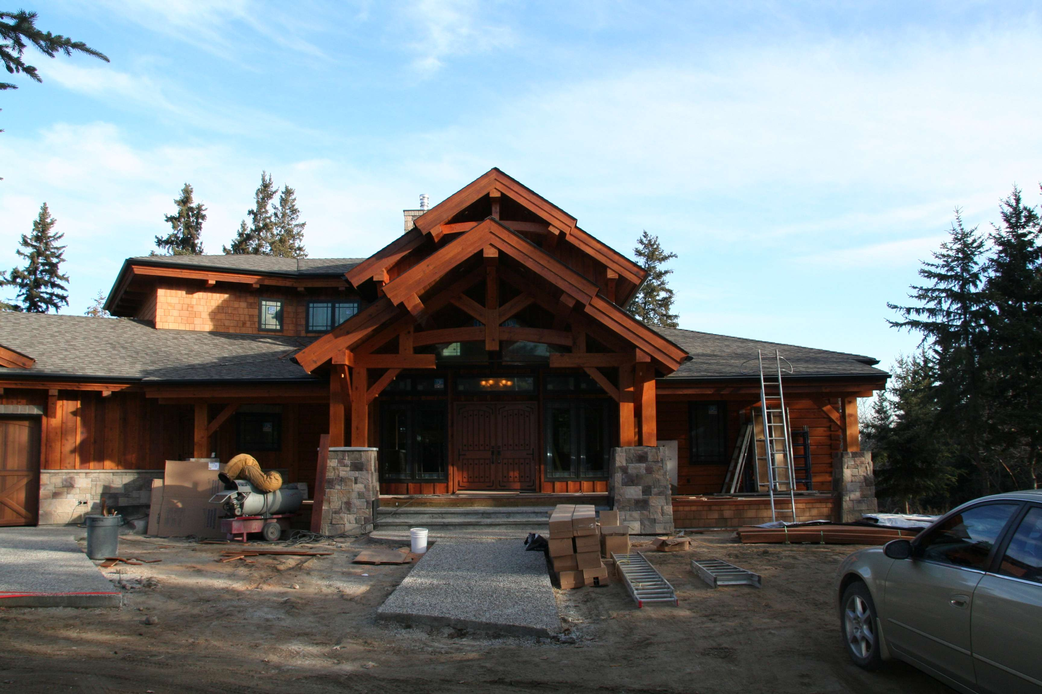 Timber Frame Log Homes Precisioncraft Wood River Home Plan