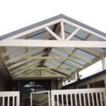 Tint Pitched Roof Pergola Plans Planks