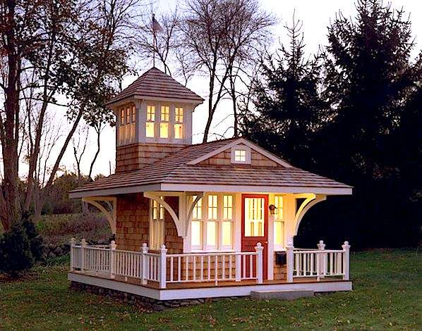 Tiny Cottage Tower Surrounding Deck House Pins
