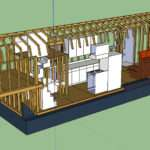 Tiny House Layout Transparent Wall Roof Studs Showing