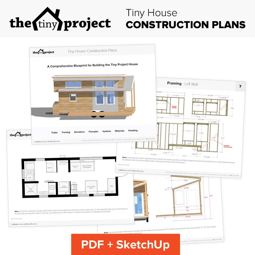 Tiny House Wheels Floor Plans Blueprint Construction