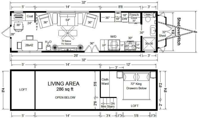Tiny Houses Wheels Floor Plans