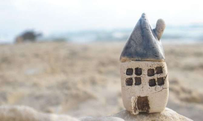 Tiny Rustic Ceramic Beach Cottage Color Your Choice Ceram