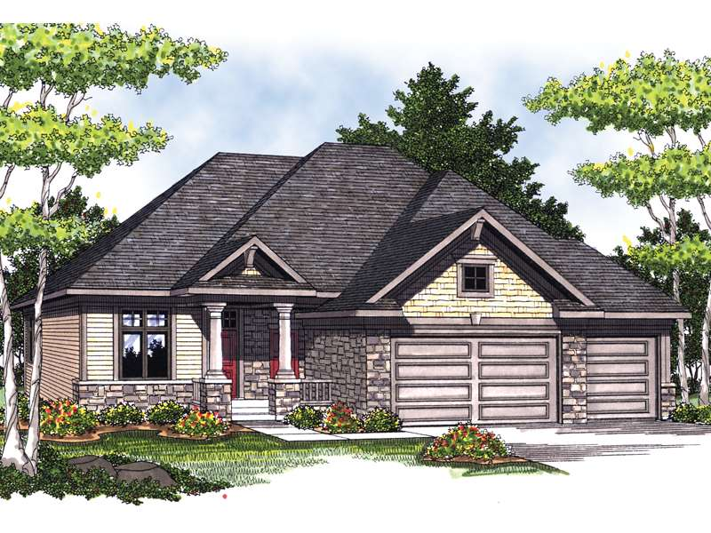 Torio Craftsman Ranch Home Plan House Plans More