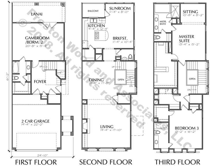 Town House Building Plan New Home Floor Plans Townhome