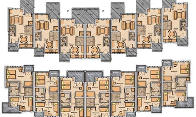 Town House Plans Dreamhouses