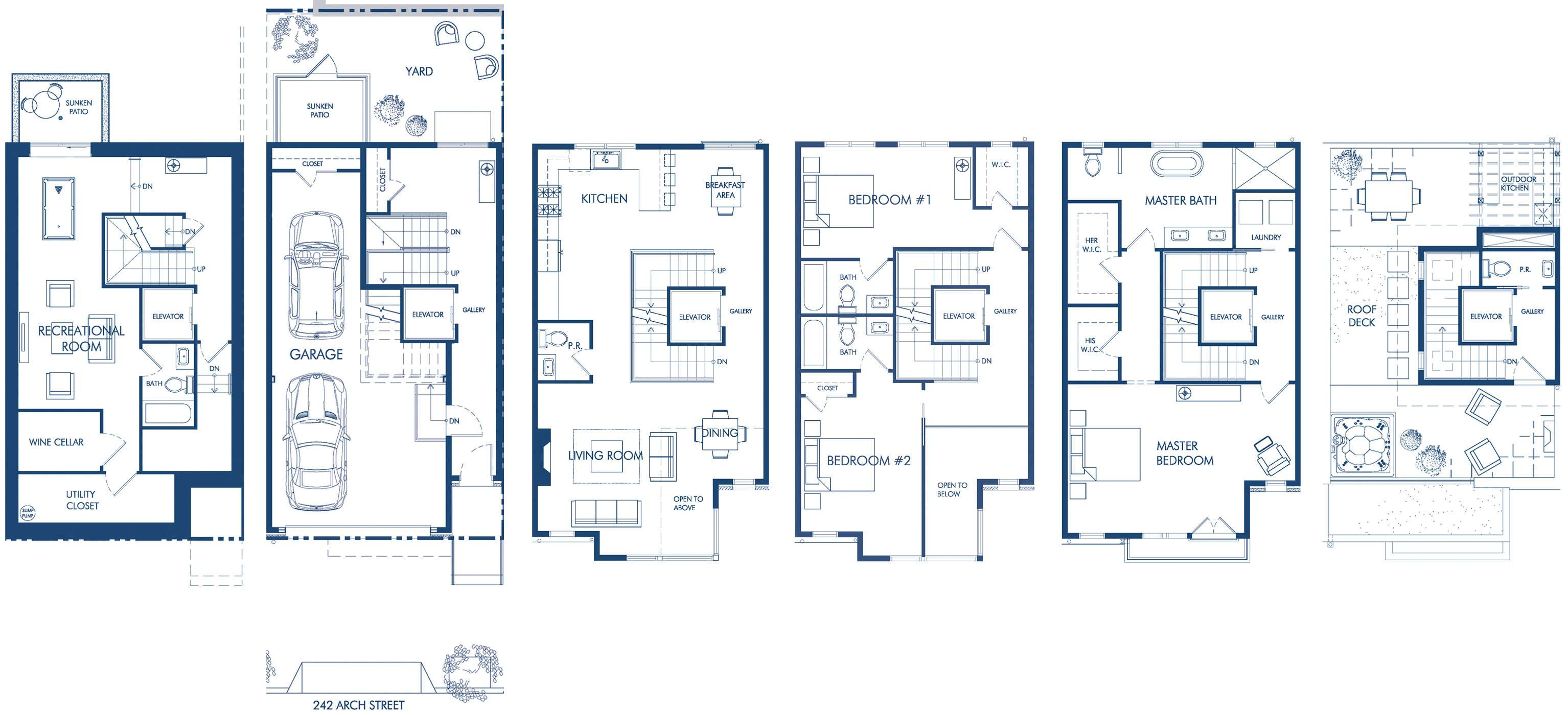 Townhome Floorplans House Plan