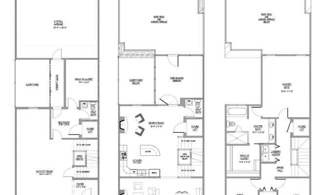 Townhouse Floor Plans Bedroom