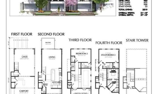 Townhouse Plans Modern House Amazing Story Floor