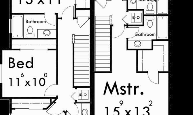 Townhouse Plans Plex House Story