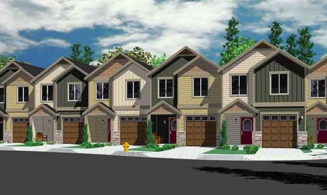 Townhouse Style House Plans Homes Floor