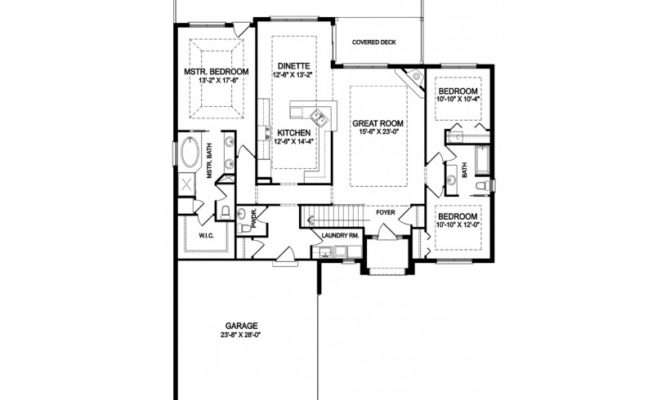 Traditional House Plan One Story Open Floor