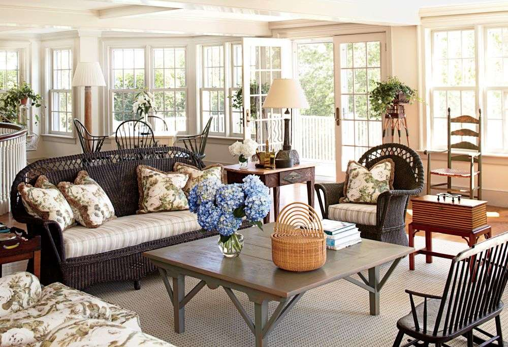Traditional Living Room Nantucket House Antiques