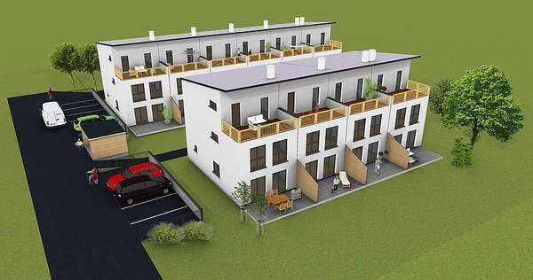 Traditional Modern Row Houses Urban Dwellings