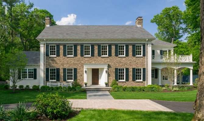 Traditional New England Colonial House Woodlands