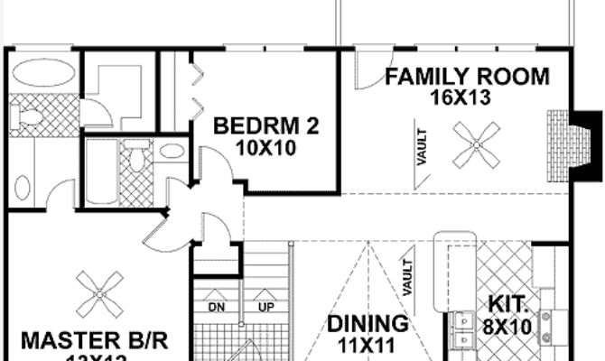 Traditional Split Level Home Plan Architectural