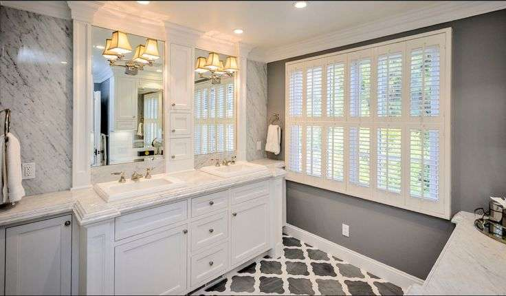 Traditional Style Gray Bathroom Dream Home Bathrooms Pinterest