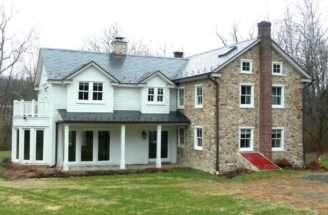 Traditional White Stone Farmhouse Hgtv