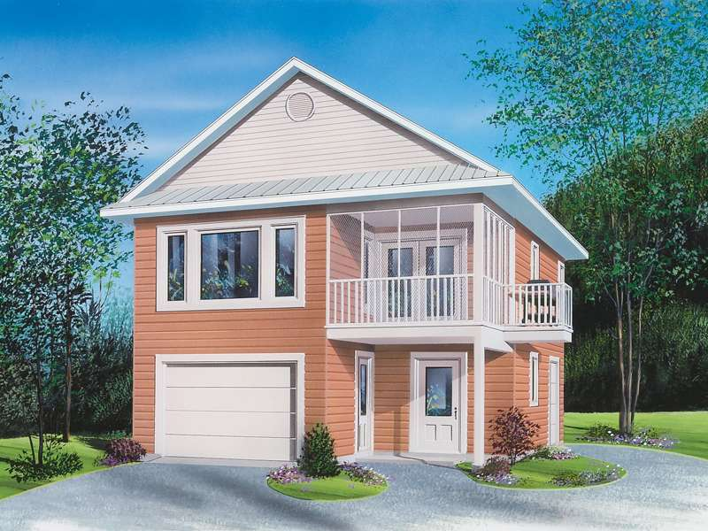 Travis One Car Apartment Garage Plan House Plans More