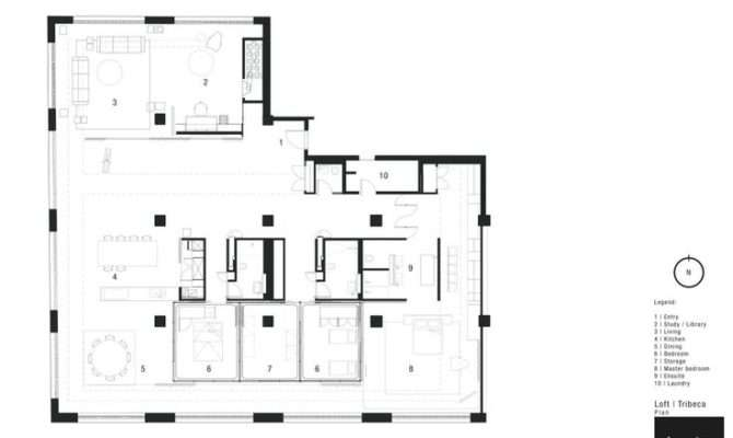 Tribeca Loft Fearon Hay Architects House Floor Plans Pinterest