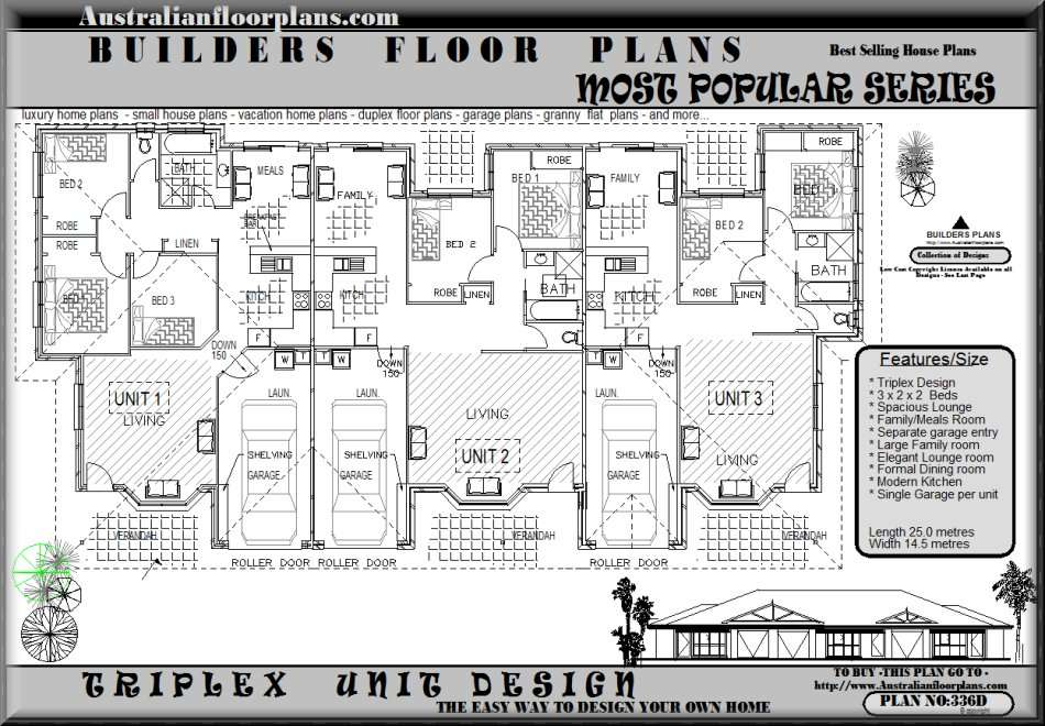 Triplex Home Plans Joy Studio Design Best