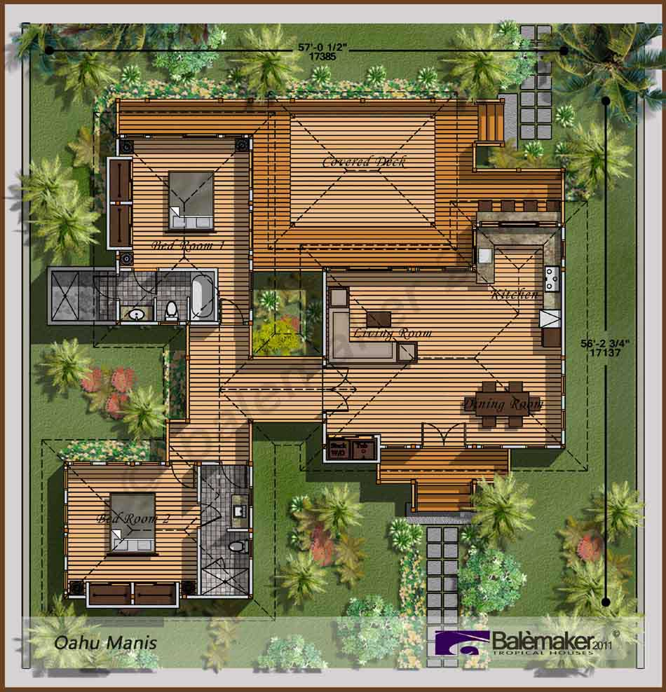 Tropical House Plans Layout Ideas Balemaker