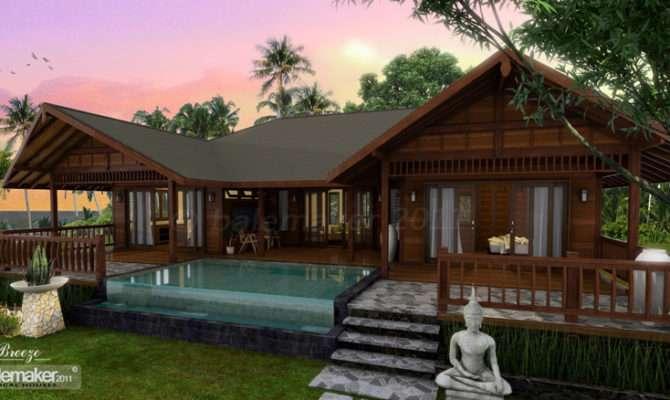 Tropical Houses Water Color Island Tierra Este