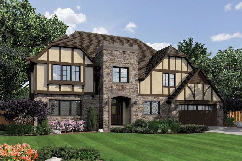 Tudor Style House Plan Beds Baths