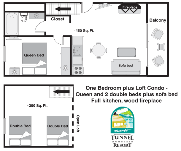 Tunnel Mountain Resort One Bedroom Plus Loft Banff Hotel