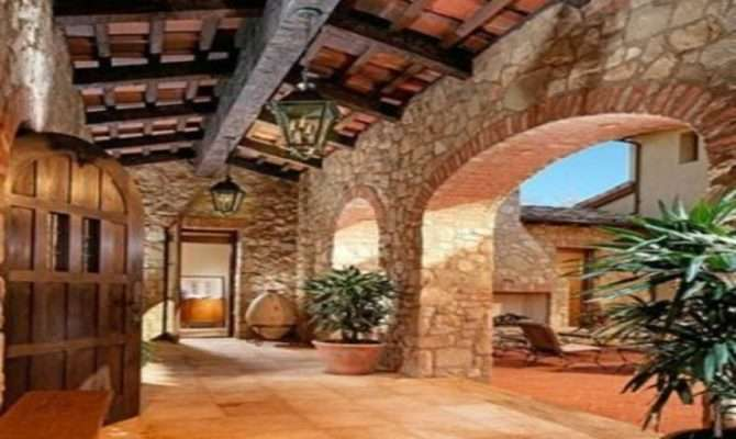 Tuscan Courtyard Landscaping Style Landscape Design